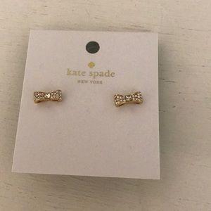 Brand new kate spade ready set bow earrings